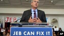 Jeb Bush presentó un nuevo eslogan para impulsar su campaña por la Casa Blanca.