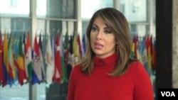 모건 오테이거스 미국 국무부 대변인이 17일 워싱턴 국무부 청사에서 VOA 김영교 기자와 인터뷰했다.