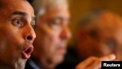 Capriles dijo que el presidente Nicolás Maduro monta un show anticorrupción para perseguir a los opositores.