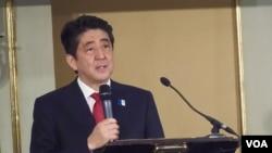 日本首相安倍晉三(資料圖片)