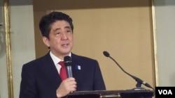 日本首相安倍晉三。 (資料照片)