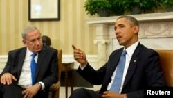 Биньямин Нетаньяху и Барак Обама. Белый дом. 30 сентября 2013г.