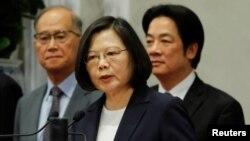 Tổng thống Đài Loan Thái Anh Văn nói với các phóng viên tại Đài Bắc ngày 24/5/2018, sau khi Burkina Faso chấm dứt các quan hệ ngoại giao với Đài Loan.