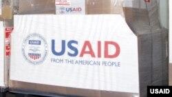 Ballot de dons de l'agence USAID.