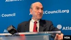 El encargado de Venezuela en el gobierno de Estados Unidos, Elliott Abrams, asistió el jueves 25 de abril de 2019 a un evento en el Atlantic Council sobre la crisis en Venezuela.