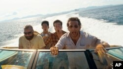 (L to R) Zach Galifianakis as Alan, Mason Lee as Teddy, Ed Helms as Stu and Bradley Cooper as Phil in Warner Bros. Pictures' and Legendary Pictures' comedy THE HANGOVER PART II, a Warner Bros. Pictures release.