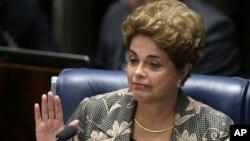Dilma Rousseff fez sua defesa no Senado