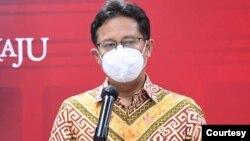 Menkes Budi Gunadi Sadikin mengatakan varian delta atau B1617.2 dari India mendominasi kasus Covid di DKI Jakarta, Kudus, dan Bangkalan. (Biro Press)
