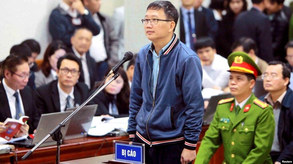 Ông Trịnh Xuân Thanh tại tòa hôm 8/1.