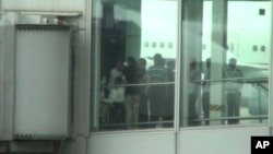 陳光誠五月十九號在北京國際機場離境
