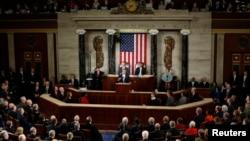 圖為美國奧巴馬總統2014年1月28日在國會報告資料照片。
