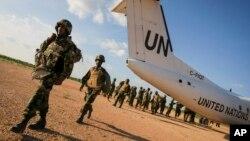 소말리아에 파병된 유엔 평화유지군 소속 군인들. (자료사진)