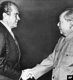 毛泽东和尼克松 (资料照片)