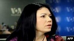 Вікторія Сюмар, директор Інституту масової інформації у студії Голосу Америки.