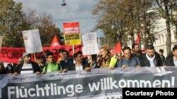 اعتراض هفتم اکتوبر افغان های ساکن در اتریش علیه اخراج اجباری پناهجویان افغان از اروپا