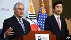 Пресс-конференция Рекса Тиллерсона и Юн Бёнсе. Сеул, 17 марта 2017.