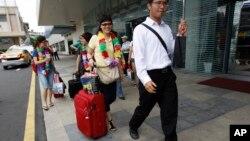 타이완 타이페이 공항을 방문한 중국인 관광객. (자료사진)