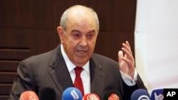 ایاد علاوی، معاون رئیس جمهور عراق، تندروان داعش و القاعده تلاش می کنند یکجا شوند