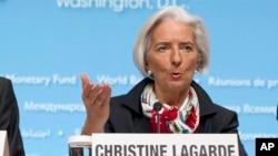 Christine Lagarde et Bader Eldin Mahmoud Abbas, du Groupe consultatif africain, se sont félicités de la croissance rapide de l'économie du continent africain