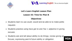Lesson Plan - Lesson 43
