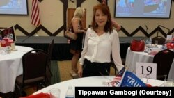 Tippawan Gambogi, a 58-year-old retired Thai woman, attends Republican Women of Prescott October Luncheon at Prescott, Arizona on October 13, 2020
