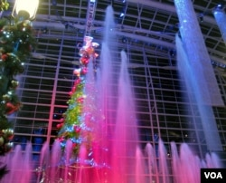 The fountain show at the Gaylord National Resort, 2010 (Creative commons photo: Beechwood Photography)
