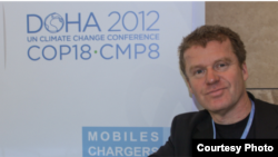 Dan Morrell, president and CEO of CHANT, at the UN Climate Change Conference in Doha. (Photo by Spenser Style)