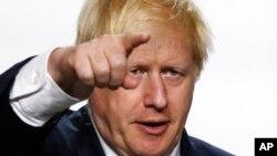 រូបឯកសារ៖ នាយករដ្ឋមន្រ្តីអង់គ្លេសលោក Boris Johnson នៅក្នុងសន្និសីទកំពូល G7 នៅប្រទេសបារាំង កាលពីថ្ងៃទី២៦ ខែសីហា ឆ្នាំ២០១៩។
