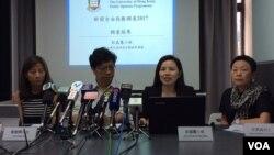 香港记协公布新闻自由指数记者会。 (美国之音记者申华 拍摄)