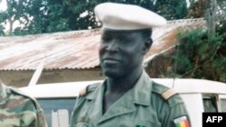 An undated reproduction photo shows Mbaye Diagne, a young Senegalese captain who saved the lives of people during the Rwanda genocide.