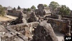 Ðền thờ Preah Vihear trong khu vực biên giới giữa Thái Lan và Campuchia
