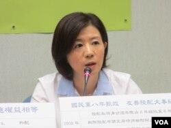 台湾执政党国民党立委王育敏(美国之音张永泰拍摄 )