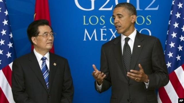Tổng thống Hoa Kỳ Barack Obama và Chủ tịch Trung Quốc Hồ Cẩm Ðào.