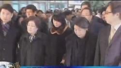 韩国吊唁团抵达平壤