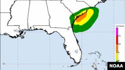 Esta madrugada Julia estaba unos 65 kilómetros al norte de Jacksonville, Florida, y se movía en dirección norte.