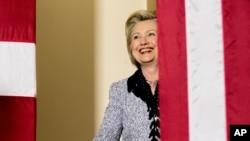 Ứng cử viên tổng thống của đảng Dân chủ Hillary Clinton tại một cuộc vận động tranh cử ở Pittsburgh, ngày 14/6/2016.