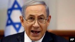 Perdana Menteri Israel Benjamin Netanyahu saat memimpin rapat kabinet di Yerusalem (foto: dok).