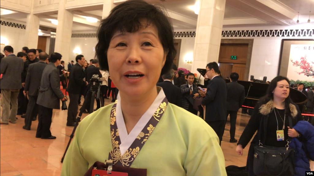 来自吉林延边的朝鲜族人大代表支持中国制裁韩国部署萨德。