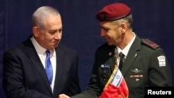 以色列总理内塔尼亚胡与新任以色列国防部长(2019年1月15日)