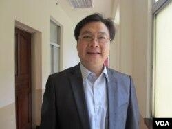 台湾执政党国民党立委纪国栋(美国之音张永泰 拍摄)