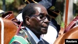 Le président zimbabwéen Robert Mugabe, 6 octobre 2016.