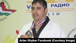 آرین خیبر برندۀ مدال طلا از رقابت های تاجکستان