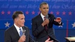 Obama, Romney Spar in Second Debate སྲིད་འཛིན་འོས་མི་གཉིས་ཀྱི་བགྲོ་གླེང་།