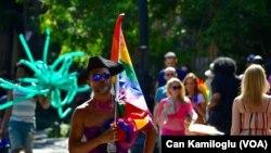یکی از رژه های گروه های دگرباش شامل همجنسگرایی مردانه و زنانه، دوجنسگرایی و دگرجنس گونه گان