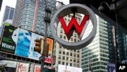 在纽约时报广场的喜达屋酒店集团旗下W酒店