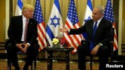 Tổng thống Hoa Kỳ Donald Trump (trái) và Thủ tướng Israel Benjamin Netanyahu, ngày 22/5/2017.