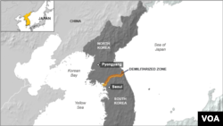 Peta wilayah Korea.