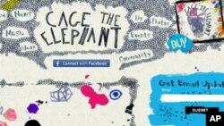 笼中大象乐团网站截屏
