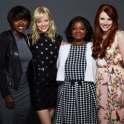 "Actors, from left, Viola Davis, Emma Stone, Octavia Spencer and Bryce Dallas Howard from the film, ""The Help"""