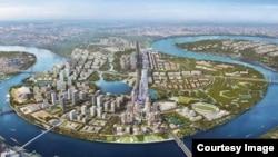 Phối cảnh khu đô thị mới Thủ Thiêm (courtesy image of NamPhatLand)